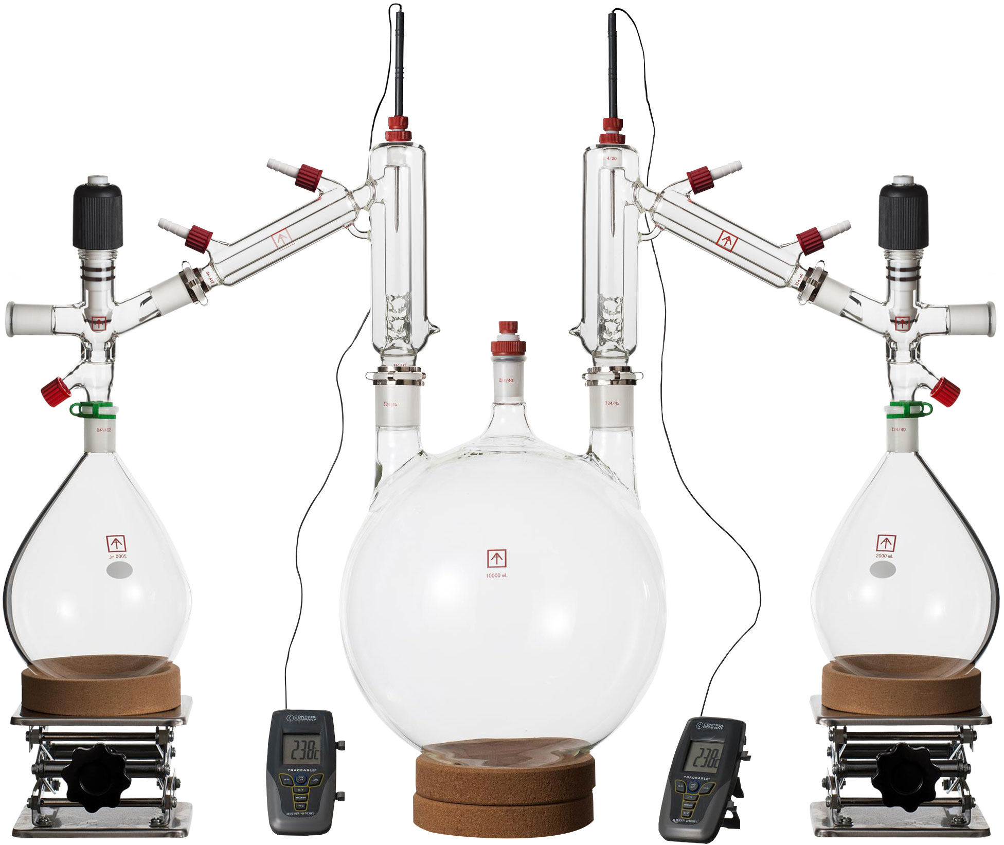 Ai 10 Liter Short Path Distillation Kit with Valved Adapters