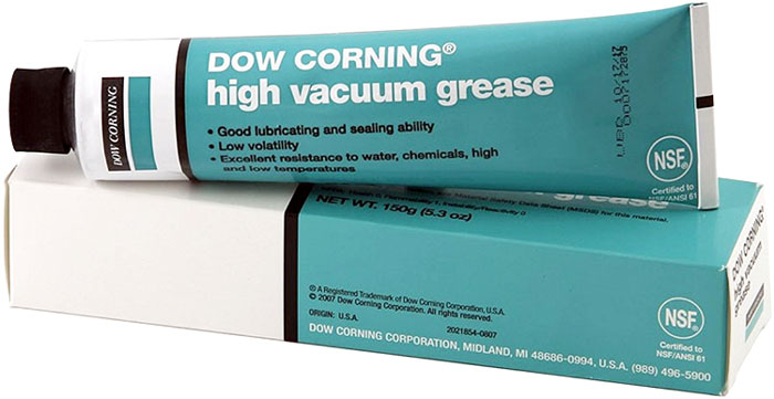 Dow Corning 5 3 Oz Colorless High Vacuum Sealing Grease Tube