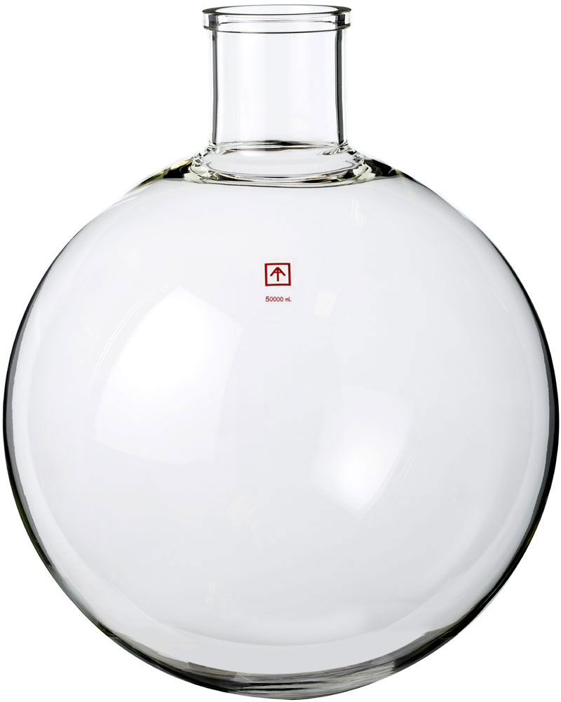 xtractor depot 13.2G/50L/1.8 cu ft round shaped evaporating flask, glass