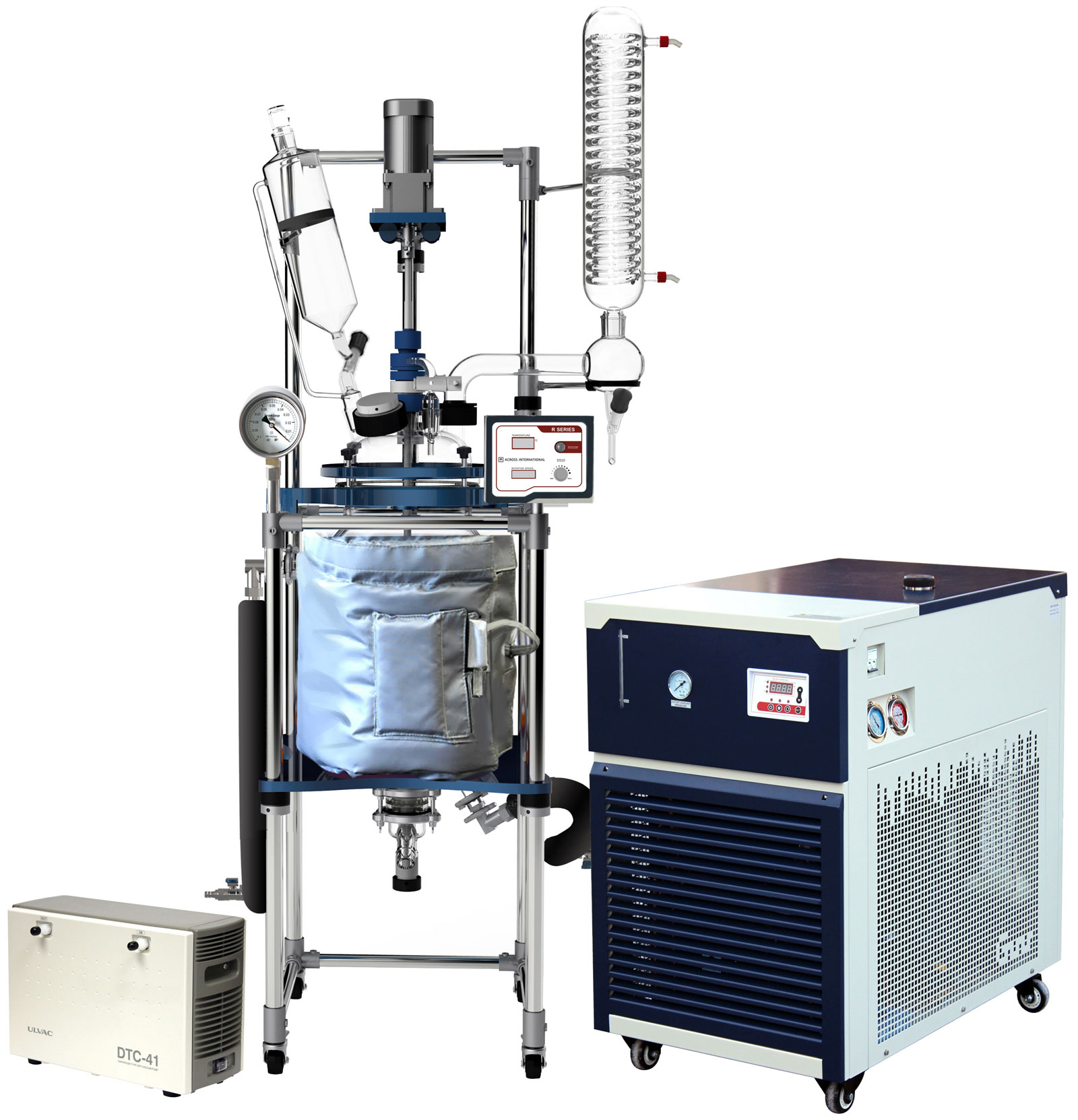 Ai 20L Single or Dual Jacketed Glass Reactor w/ Chiller & Pump