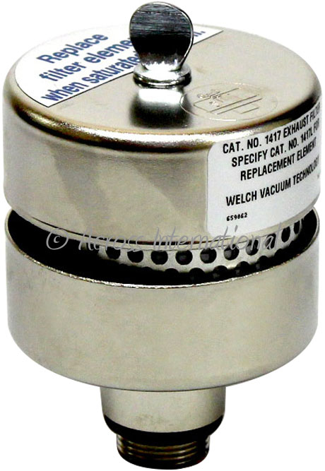 Welch 1417 Oil Mist Exhaust Filter for 1400 DuoSeal Vacuum Pumps