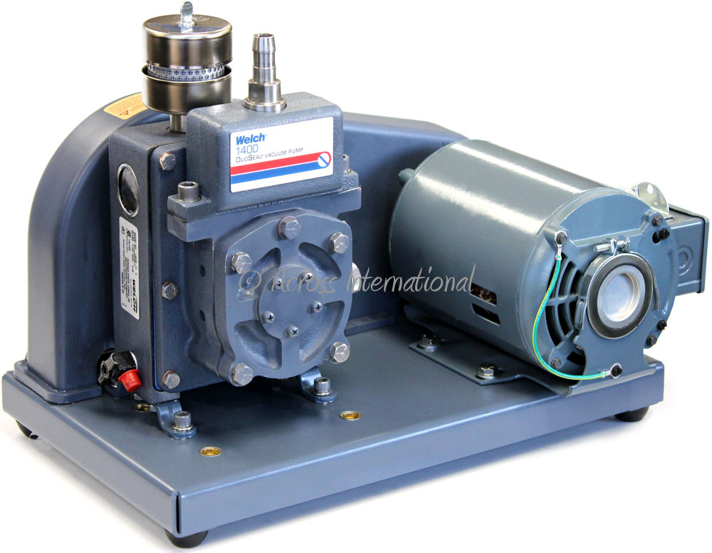 Details about Welch 1400 DuoSeal 0 9 cfm 0 1 Micron 2-Stage Vacuum Pump  Short Path with Filter