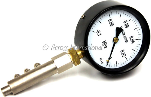xtractor depot across international Mechanical vacuum gauge with 3 hose barb connectors