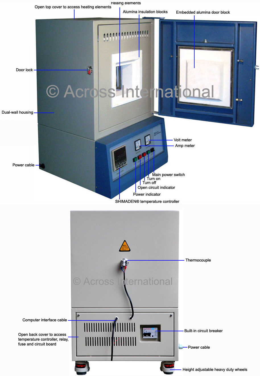 Cf 1400c 40 Segment Muffle Furnace W Pc Interfacee Circuit Diagram Of Joystick Interface